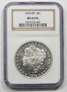 1878 8tf 1 Morgan Silver Dollar Ngc Ms63pl Vam-19 Doubled Date 050105