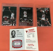 Michael Jordan 1984858687 Chicago Bulls Pocket Schedule Lot Of 4
