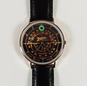 Old Antique Style Zenith Black Dial Wrist Watch - Vintage Wood Tube Radio Style