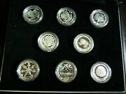2000 Australia Olympics - 8 Coin Set In Black Leather Like Case