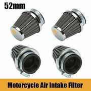 4x 52mm Universal Auto Vehicle Car Air Filter Cold Air Intake Filter Pod Cleaner