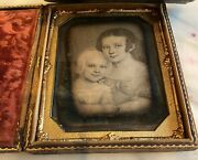 Antique Daguerreotype Photo Of Mother And Child 1/2 Plate Famous Photo