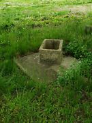 Civilian Conservation Corps Ccc Privy Outhouse Concrete Foundation- New Jersey