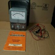 Rare Vtg Simpson 270 Series 2 Multimeter With Case Booklet And Leads