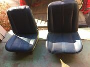 1966 Pontiac Gto Chevelle Ss Olds 442 Gs Oem Blue Strato Style Bucket Seats Pair