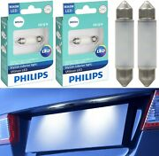 Philips Ultinon Led Light De3425 White 6000k Two Bulbs License Plate Tag Replace