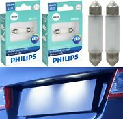 Philips Ultinon Led Light De3423 White 6000k Two Bulbs License Plate Tag Replace