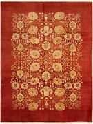 Modern Hand-knotted Carpet 10and0391 X 13and0394 Oriental Wool Area Rug