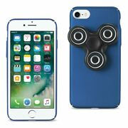 10 Pack - Reiko Iphone 8/ 7 Case With Led Fidget Spinner Clip On In Navy