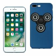 10 Pack - Reiko Iphone 8 Plus/ 7 Plus Case With Led Fidget Spinner Clip On In