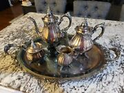 Wallace Baroque Tea Set With Footed Tray