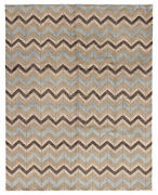 Hand-knotted 8'0 X 10'0 Tangier Carved, Casual, Moroccan, Tribal Wool Rug