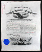Grover Cleveland Signed 15.5x19.25 1894 Military Appointment Document Bas