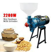2200w Wet Electric Feed Flour Mill Cereals Grinder Corn Grain Wheat+funnel Used