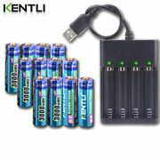 Batteries Aa 1.5v 3000mwh Li-ion Lithium Rechargeable Battery + Usb Charger