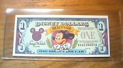 1 1993 1 Disney Dollar - Mint Condition - Mickeyand039s 65th - Series A