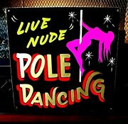 Pole Dancers Sexy Man Cave Beer Bar Pub Stripper Wild Dancing Hand Painted Sign
