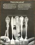 1969 Gorham Sterling Silver Flatware Print Ad Which Is The Real You