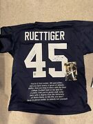 Rudy Ruettiger Signed Autograph Blue Jersey W/ Play And Movie Quote Rudy Holo