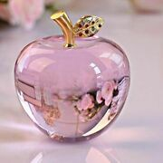 Crystal Apple 80mm Paperweight Crafts Christmas And Wedding Decorative Gifts
