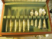 Vtg 1847 Rogers Bros Heritage Service For 6 Silverplate 26 Pc + Wood Chest