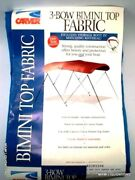 Carver 403pii04 3-bow Bimini Top Fabric And Boot Pacific Blue 6' Canvas Boat Cover