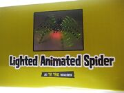 Halloween Yard Lawn Lighted Crawling Spider Animated Large 36 New In Box
