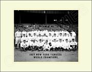 1927 Yankees 11x14 Double Ivory Matted Display New York Ruth Gehrig Lazzeri Hoyt