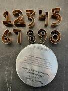 Cookie Cutters 10 Solid Copper Numbers Sweet Things Old Dutch Intand039l India 2- 3