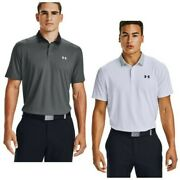 Under Armour Mens Iso-chill Grid Polo Shirt Ua Golf Moisture Wicking Stretch Top