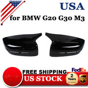 For Bmw G30 G20 2017-2020 M Style Side Wing Mirror Cover Caps Black Clip-on Set