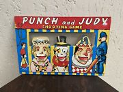 Vintage Welsotoys Tinplate Punch And Judy Shooting Game