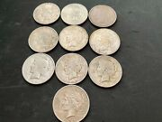 Andnbsppeace Dollar Lot Of 10 Coins Culls Some Nicer Good Mix Free Shipping