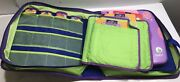 Leappad Learning System Lot, Quantum Leap Pad , Books Cartridges And Carrying Case