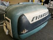 Evinrude Johnson 30 Hp Big Twin Outboard Motor Cover Cowling Decor Top Lid 1950s
