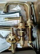 Rohl Mb2009lmstb Grace Line Bathroom Faucet Lever Satin Brass