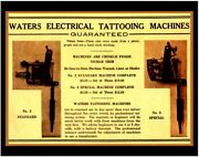 Pro Print 1920s Antique Percy Waters Tattoo Supply Machine 2 6 Photo Ad 11x14