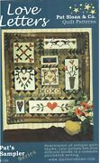 Love Letters Wall Quilt Pattern Hanging Antique Style Hearts Romantic Patchwork