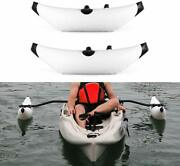 Pvc Inflatable Kayak Outriggers Stabilizers System Canoe Fishing Boat Float Tube