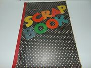 Vintage 1930and039s Polka Dot Scrapbook Clippings Magazine Pictures 58 Pages