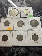Colombia Coins/world Coins 8 Coin Lot 1944b-1994
