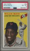 1954 Topps Baseball Willie Mays Card 90 Psa 6 Em-mint Condition