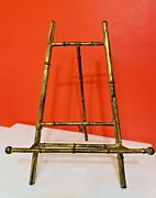 Antique Metal Gold Tone 11.5 Art Picture Display Plate Rack