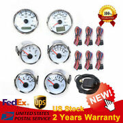 6 Gauge Set Electronic Speedometer Stainless Steel Plate For Car Boat 9-36v Dc