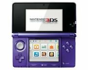 Nintendo 3ds Midnight Purple With Stylus Sd Card And Charger