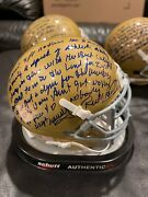 Rudy Ruettiger Signed Notre Dame Mini Helmet W Full Movie Quote Rudy Hologram