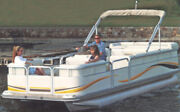 Pontoon Boat Cover Bimini Top And Enclosed Deck-24and0396 X 102 Beam