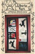 Spring Breezes Wall Quilt Pattern Hanging Or Table Topper Wool Flowers Bunnies
