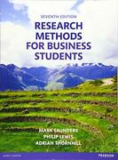 Research Methods For Business Students 7th Edition By Saunders Mark N.k. landhellip