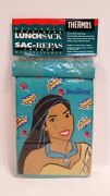 Thermos Reusable Insulated Lunch Sack Bag Disney Pocahontas Vintage 1995 New